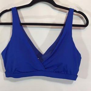 Demi Lovato Fabletics royal blue strappy bra XL